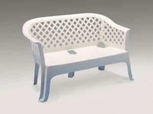 Lariana, Wasserdicht Sofa aus Kunststoff, für den Außeneinsatz