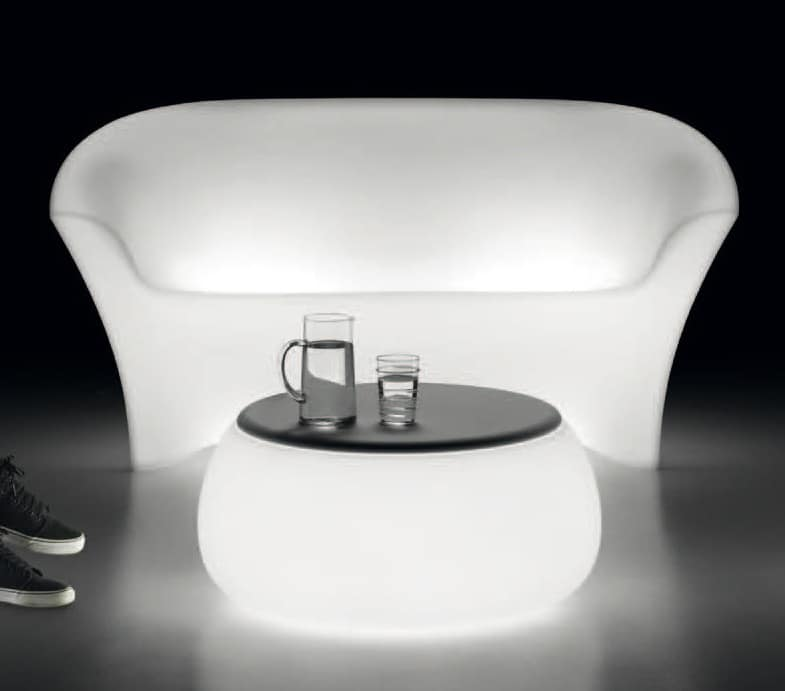 LT 2016 / 2P, Sofa aus Polycarbonat mit Innenbeleuchtung, für Gärten