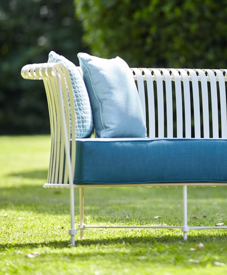 MOLLE GF4001SO, 3-Sitzer Sofa aus Schmiedeeisen für den Außenbereich