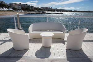 Pine Beach Sofa, Outdoor-Sofa mit abgerundeten Formen