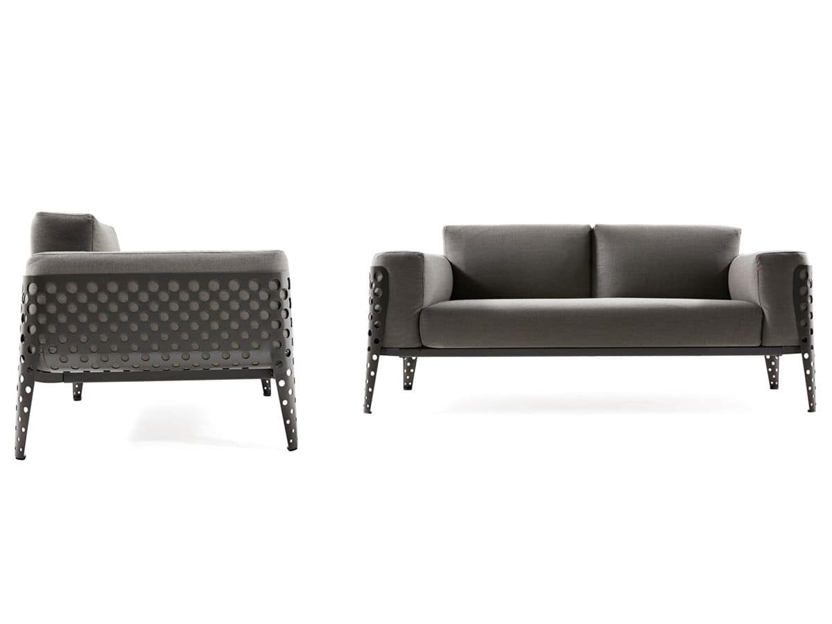 sofas polstersitze sofas polstersitze f r drau en metall. Black Bedroom Furniture Sets. Home Design Ideas