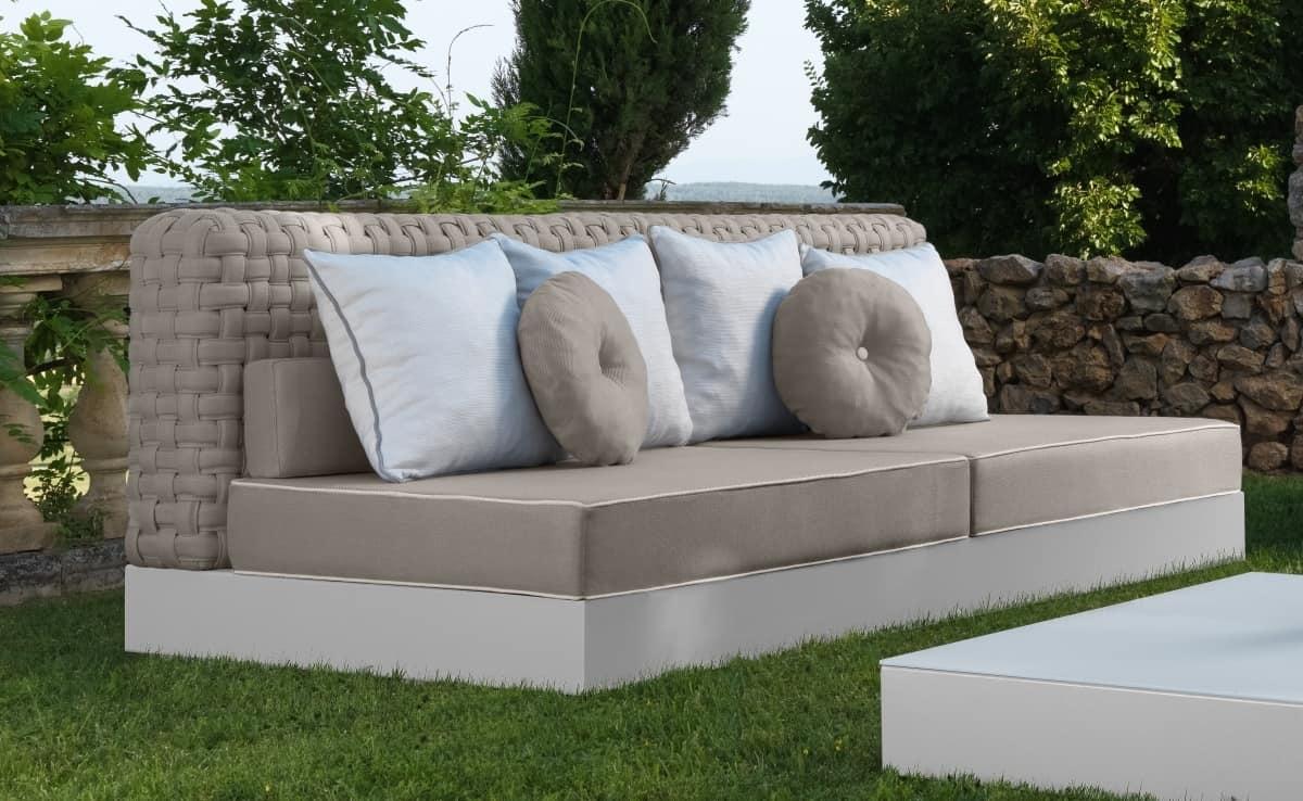 sofa f r den au enbereich ohne armlehnen idfdesign. Black Bedroom Furniture Sets. Home Design Ideas