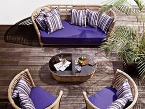 Tonkino Sofa, Gewebte Sofa für Garten und Terrasse geeignet