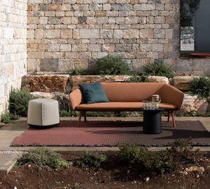 Tuile sofa, 2 oder 3-Sitzer-Sofa, in wetterfesten Materialien