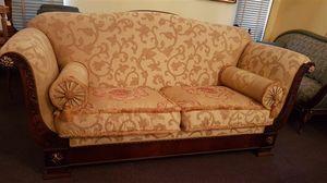 2880 SOFA, Klassisches Sofa mit floralem Stoff, ermäßigtem Preis