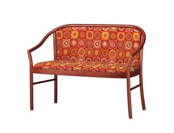 406 D, Sofa mit sichtbarer Struktur in Buche, für Wohnzimmer