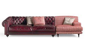 6701 Collage/2, Modulares Sofa, mit einem alternativen klassischen Design