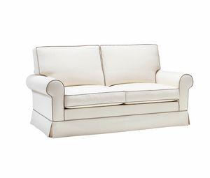 Amerigo, Klassisches Sofa, in weissem, herausnehmbaren Stoff