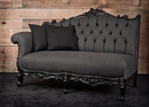 Angolo sx Wolle, Sofa, linke Ecke, schwarz lackiert