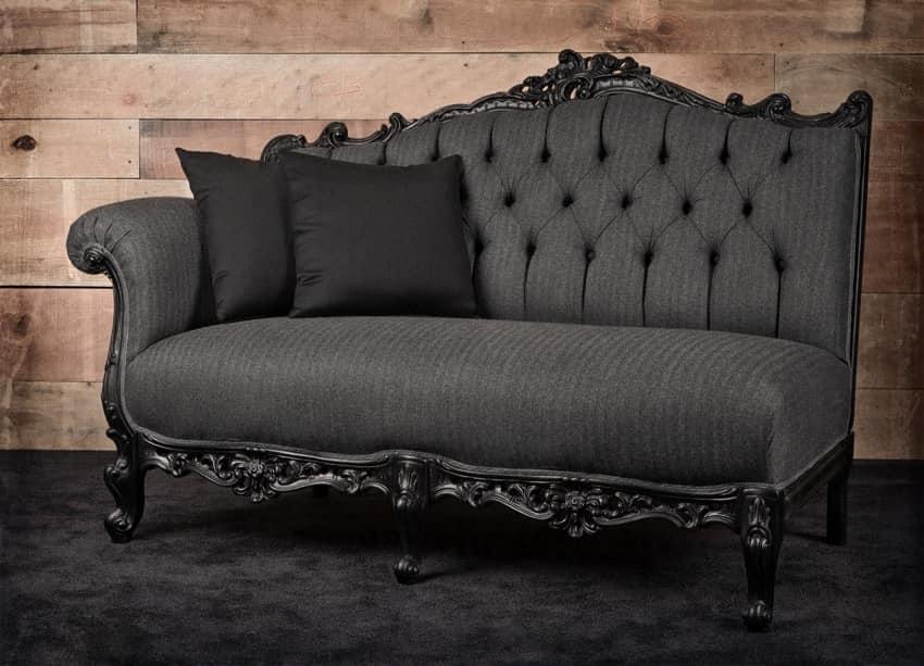 Sofa Klassisch sofa linke ecke schwarz lackiert idfdesign