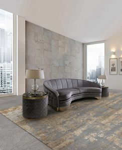 ART. 3309, Gebogenes Sofa mit gesteppter Rückenlehne