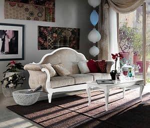 Art. AX405, Sofa in einem klassischen Stil der Provence, in edlem Holz gefertigt