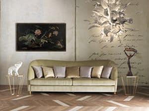 Art. CA913, Elegantes Sofa mit Samtpolsterung