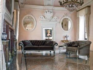 ATENA sofa 8413L, Klassische Sofa mit zwei oder drei Sitze, gesteppt