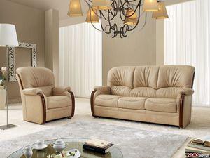Bellepoque Sofa, Klassisches Sofa mit eleganten Holzdetails