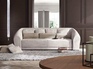 Bilbao Sofa, Sofa in der zeitgenössischen klassischen Stil, gekrümmte Form