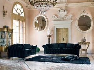BLOMM sofa 8415L, Klassischen Stil Sofa, mit Stoff gepolstert