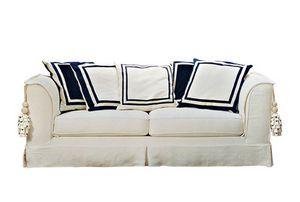 Blucina, Klassisches Sofa mit abnehmbarer Polsterung