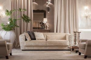 Boulevard, Sofa für das Wohnzimmer, mit komplett abnehmbaren Deckel