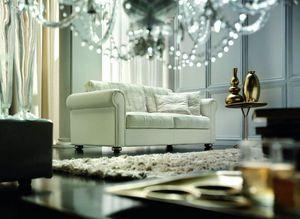 Casanova, Klassisches Sofa mit komplett abnehmbarem Bezug