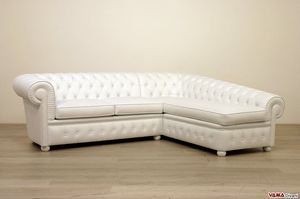 Chesterfield mit Chaiselongue, Chester Sofa mit Dormeuse