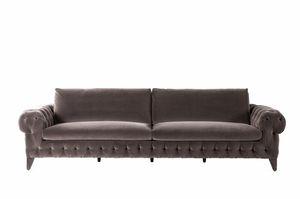 Chrysler Sofa, Klassisches Sofa mit Capitonné-Polsterung