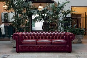 CLASSIC, Sofa im klassischen Stil aus Leder