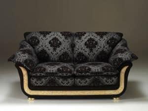Corniche Sofa, Sofa im klassischen Stil, komplett von Hand in Italien
