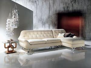 DI11 Cherubino, Corner Sofas mit Halbinsel, mit Polyurethanpolsterung