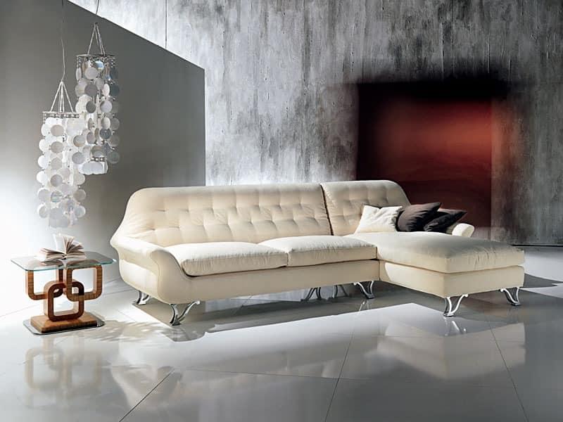 DI11 Cherubino Sofa, Corner Sofas mit Halbinsel, mit Polyurethanpolsterung