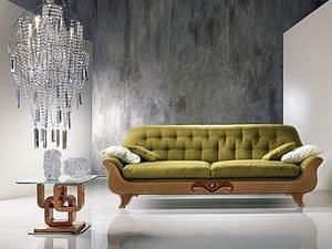 DI13 Cherubino, Sofa Klassiker mit zurück gesteppt, für moderne Salons