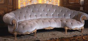 Sofa 4870, Gebogenes Sofa im klassischen Stil