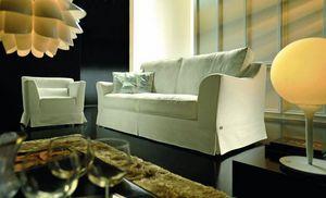 Dolcevita, Klassisches Sofa mit großen und weichen Sitzen