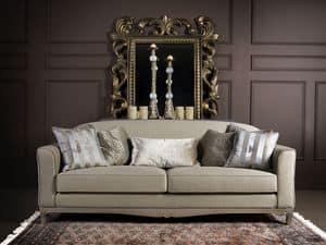 DORIAN Sofa 8557L, Gepolsterte Holzsofa, für Wohn- und Hotelnutzung