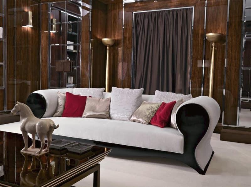 modernes klassisches sofa luxus aus lackiertem holz idfdesign. Black Bedroom Furniture Sets. Home Design Ideas