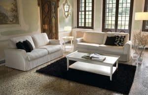 Elite, Holz-Sofa, mit elastischen Bändern
