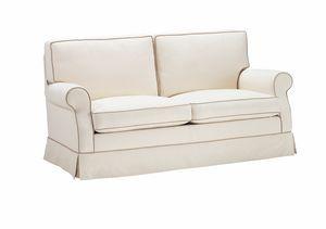 Franca, Sofa mit hoher Rückenlehne, auch als Schlafsofa erhältlich