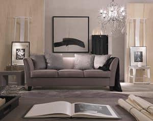 Genny, Eleganten Sofa in einem klassischen, zeitgenössischen Stil
