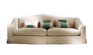 Giasone, Sofa mit abnehmbarem Bezug, mit klassischen Linien
