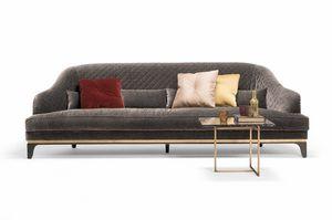 Jade Sofa, Großes Sofa mit dekorativen Kissen