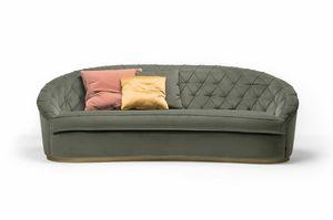 Jaspis-Sofa, Sofa mit abgerundeten Formen