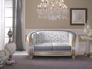 Liberty Sofa, Hochwertige klassische Sofa, anpassbare Polsterung in kostbare Stoffe, für Wohnzimmer und Wartebereiche