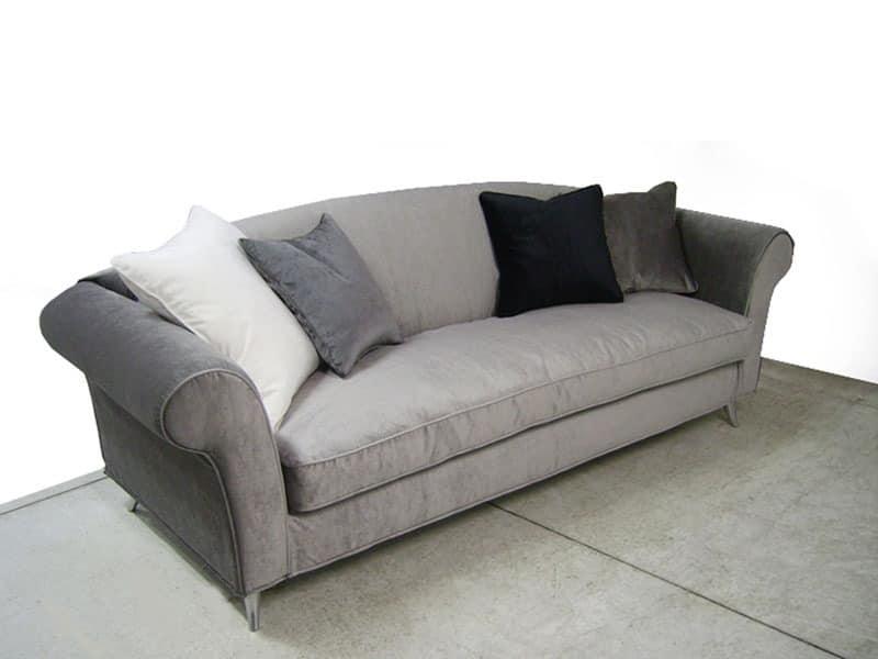 sofa gepolstert in polyurethan nussbaum f e idfdesign. Black Bedroom Furniture Sets. Home Design Ideas