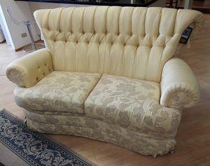Lucrezia Sofa, 2-Sitzer-Sofa im klassischen Stil