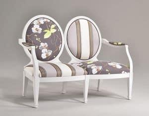 LUNA large sofà 2P 8239L, Klassische Sofa mit original geformte Rückenlehne