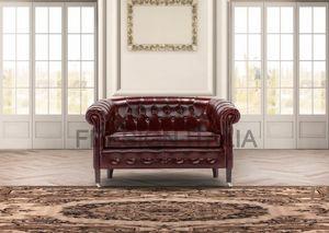 Luxor mini, 2-Sitzer-Sofa im klassischen Stil