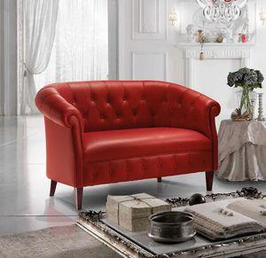 MARGOTT, Sofa im englischen Stil mit Capitonné-Polsterung