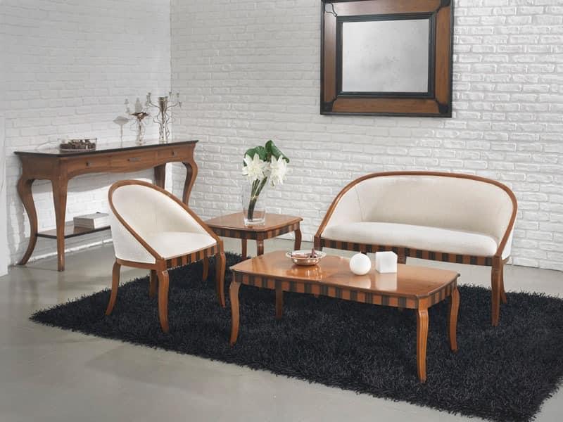 MIMI' sofà 8285L, Sofa in Buche, benutzerdefinierte Farben, für das Wohnzimmer