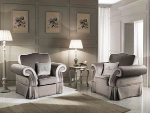 MORFEUS Sessel, Klassischer Sessel mit Stoffbezug
