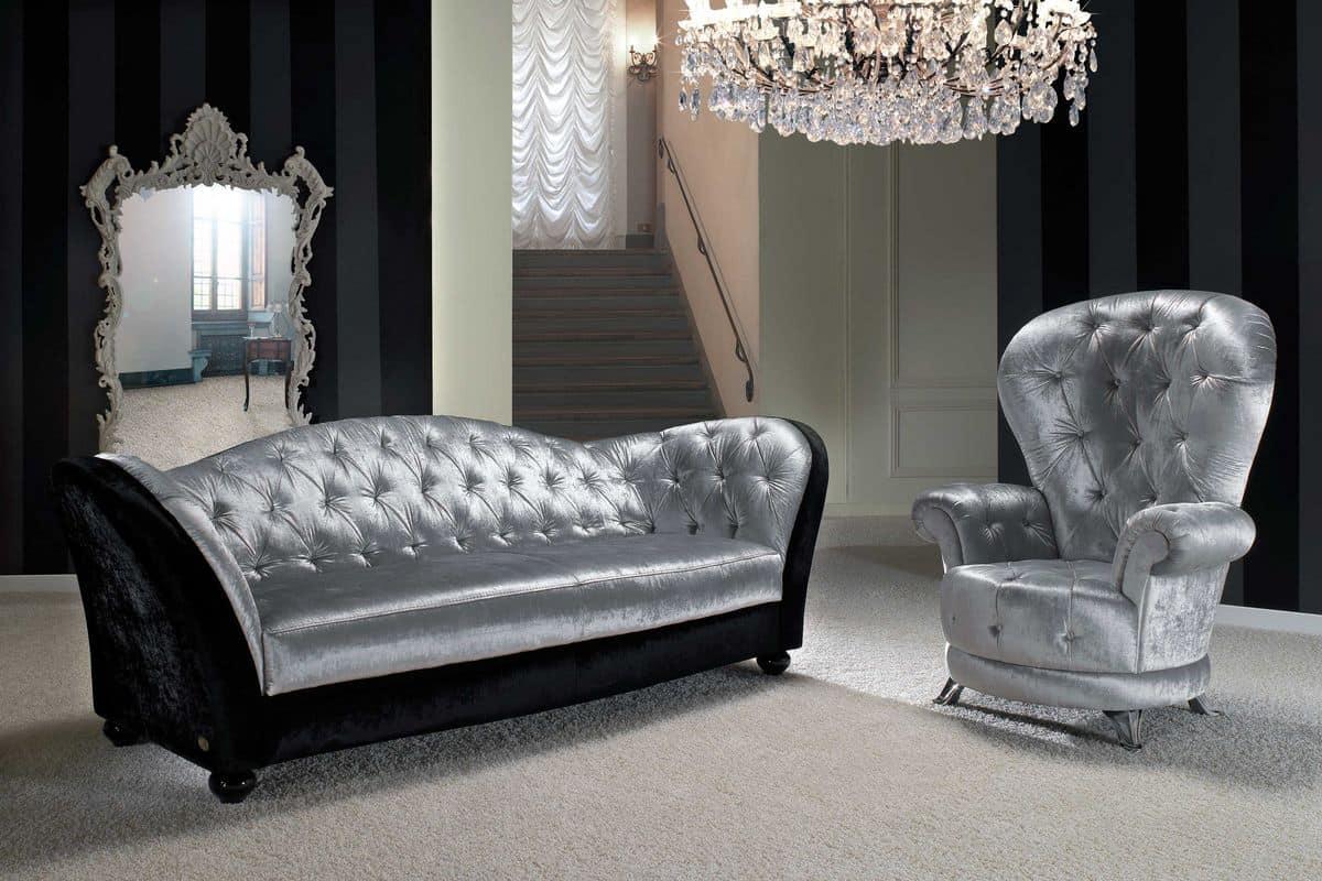 sofa bedeckt in leder oder mikrofaser plissiert r ckenlehne idfdesign. Black Bedroom Furniture Sets. Home Design Ideas